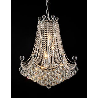 Paula 3-light Crystal 20-inch Chrome Chandelier