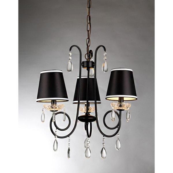 Christian 3 light black 20 inch chandelier free shipping today christian 3 light black 20 inch chandelier aloadofball Images