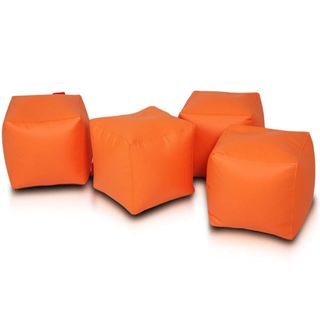 Cube Bean Bag Chair 2-piece Set