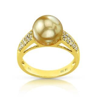 Radiance Pearl 14k Gold Golden South Sea Pearl and Diamond Accent Ring|https://ak1.ostkcdn.com/images/products/10879287/P17915614.jpg?impolicy=medium