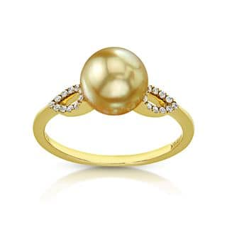 Radiance Pearl 14k Gold Golden South Sea Pearl and Diamond Accent Ring|https://ak1.ostkcdn.com/images/products/10879288/P17915615.jpg?impolicy=medium