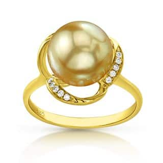 Radiance Pearl 14k Gold Golden South Sea Pearl and Diamond Accent Ring|https://ak1.ostkcdn.com/images/products/10879295/P17915621.jpg?impolicy=medium