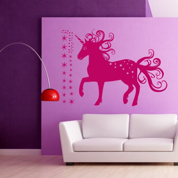 Shop Magical Unicorn Wall Decal On Sale Free Shipping