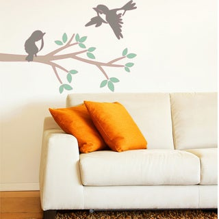 Branch and Birds Floral Wall Decal