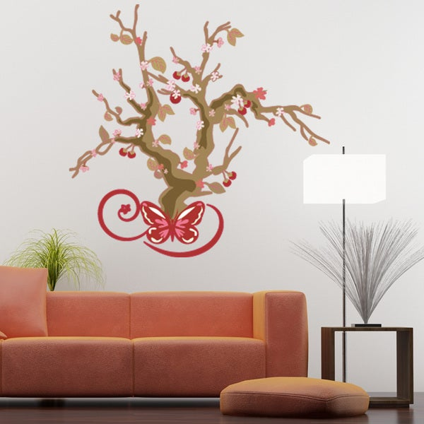 Cherry Blossom Tree Fl Wall Decal On Free Shipping Today 10879398