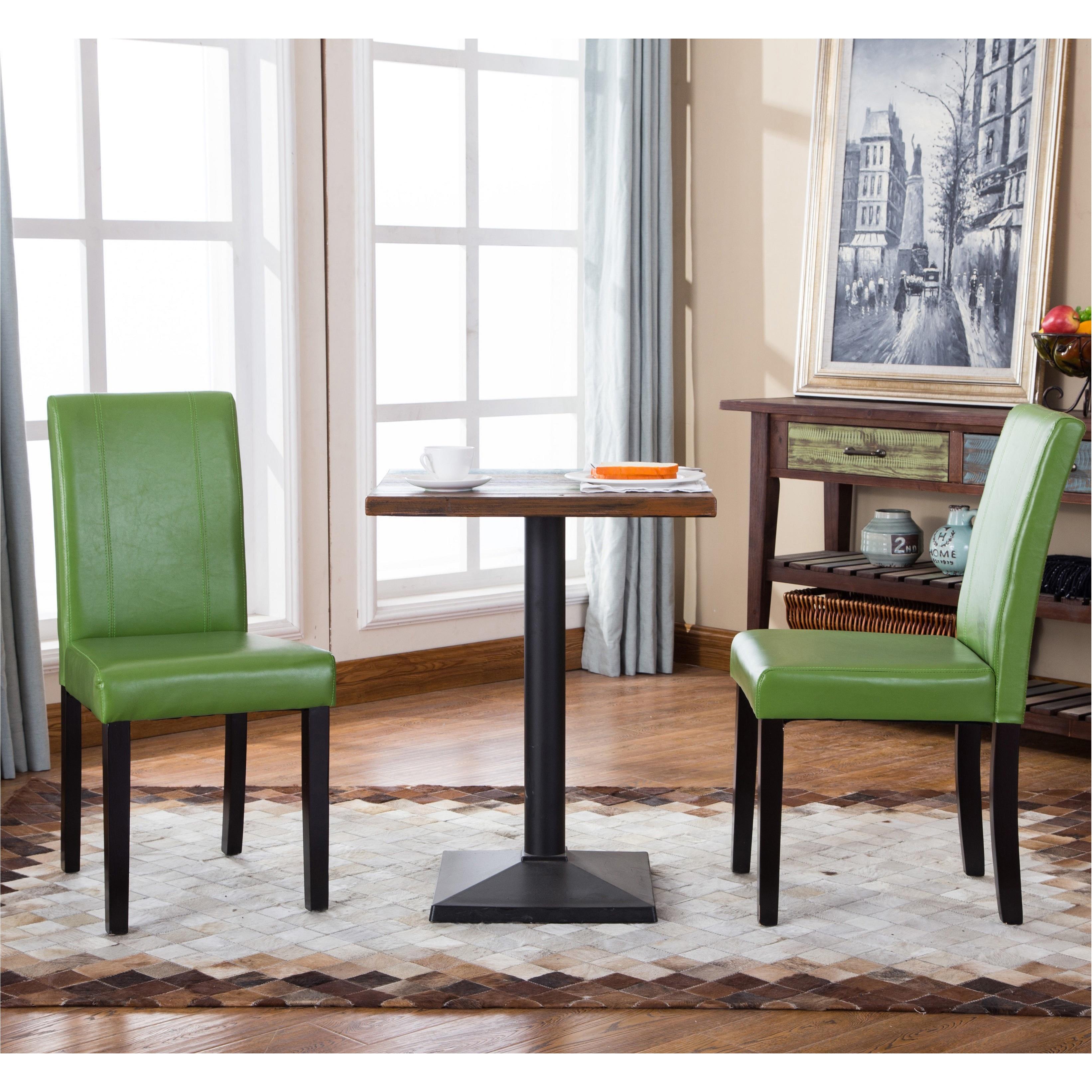 Shop Porch & Den Botanical Heights Hickory Solid Wood Leatherette ...