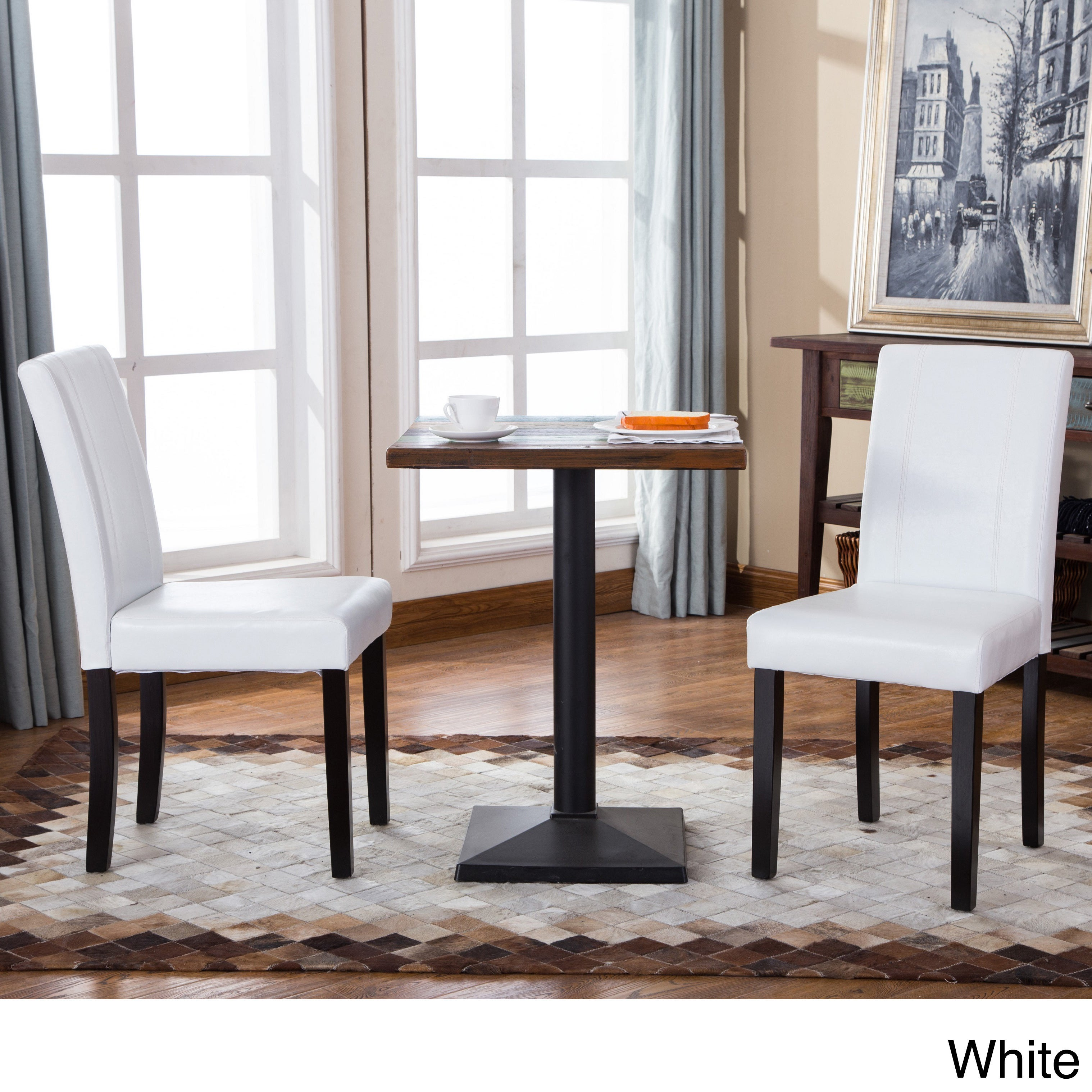 White Wood Kitchen Dining Room Chairs For Less