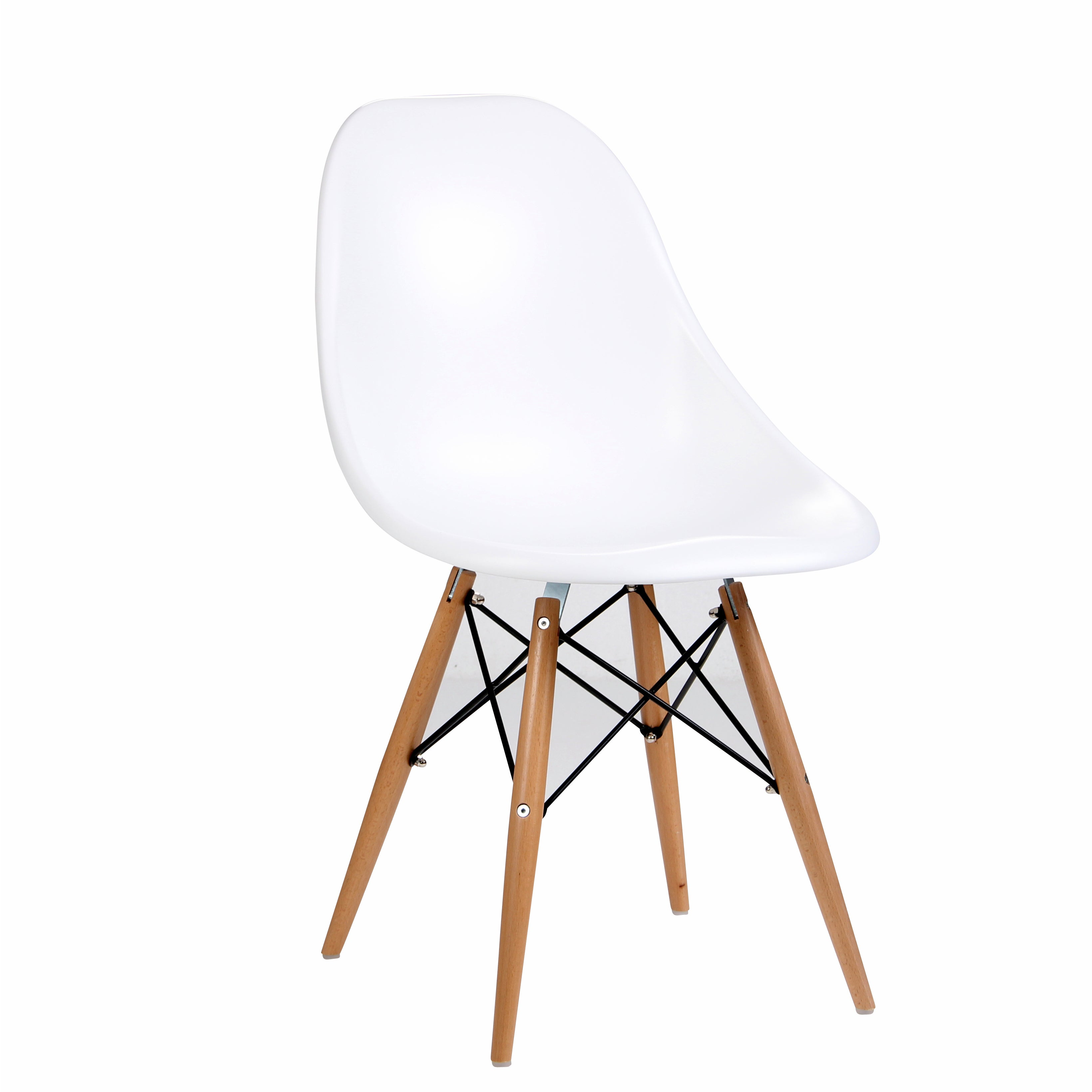 Citytalk abs dining chairs with steamed birch wood legs set of 2
