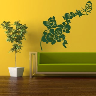 Butterfly Orchid Floral Wall Decal