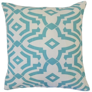 Zephne Geometric 18-inch Feather and Down Filled Throw Pillow