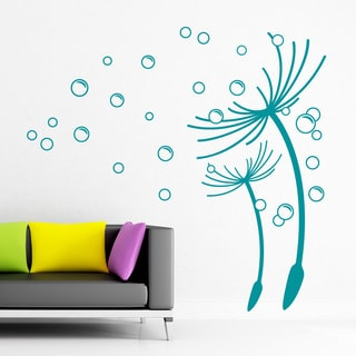 Flying Dandelions Floral Wall Decal
