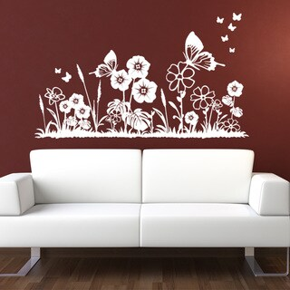 Flower Meadow Floral Wall Decal