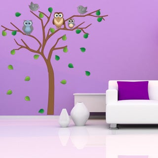 Noble Owl Tree Wall Decal
