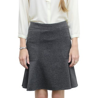 Relished Women's Contemporary Blanchette Grey Flared Skirt