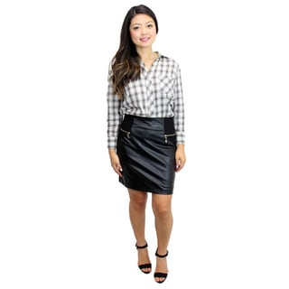 Relished Women's Lennox Alley Faux-Leather Skirt