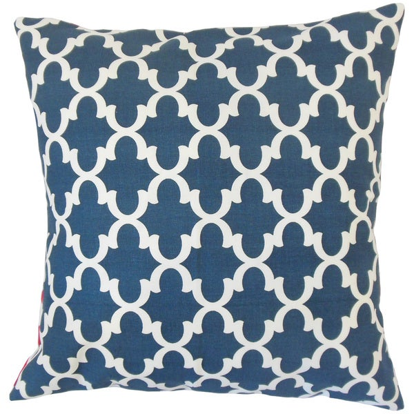 Shop Benoite Navy Geometric 18 Inch Feather And Down
