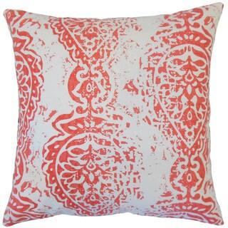 Tarangini Ikat 18-inch Feather and Down Filled Throw Pillow