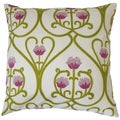 Makenna Floral 18-inch Feather and Down Filled Throw Pillow