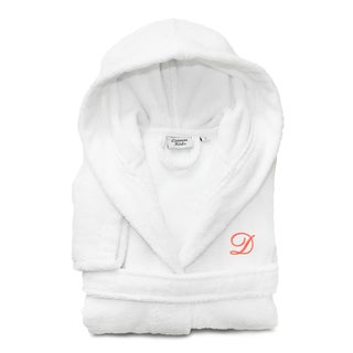 Sweet Kids White with Hot Pink Monogram Turkish Cotton Hooded Terry Bathrobe (More options available)