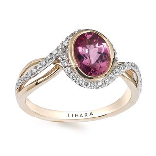 Lihara and Co 18k Yellow and White Gold Spinel and 1/4ct TDW Diamond Ring (G-H, VS1-VS2)