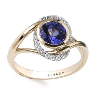 Lihara and Co 18k Yellow and White Gold Tanzanite and 1/5ct TDW Diamond Ring (G-H, VS1-VS2)