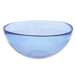 French Home Set of 4, 7-inch Sapphire Blue Birch Bowl