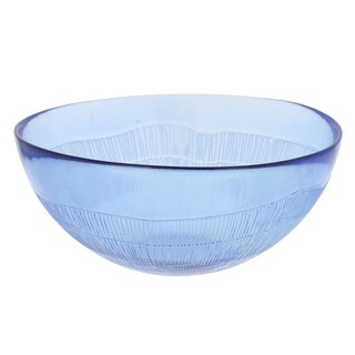 French Home Set of 4, 7-inch Sapphire Blue Birch Bowls