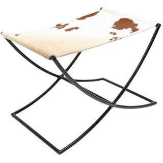 Brown/White Hide Sled Bench Seat
