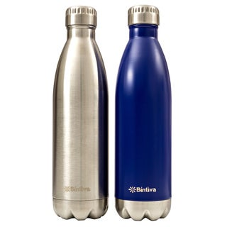 Bintiva Double Walled Vacuum Insulated 25-ounce Stainless Steel Water Bottle