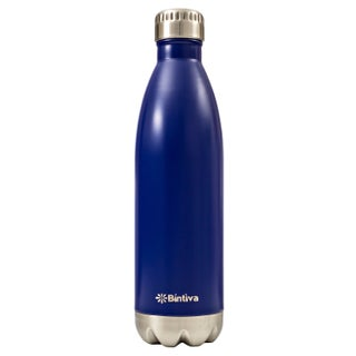 Bintiva Double Walled Vacuum Insulated 17-ounce Stainless Steel Water Bottle (Option: Blue)