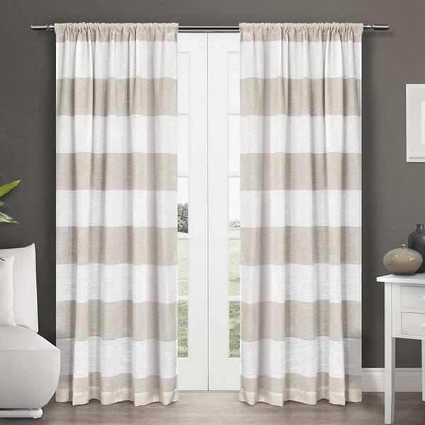 ATI Home Darma Semi Sheer Rod Pocket Window Curtain 84
