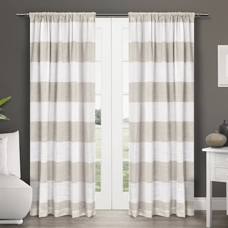 ATI Home Darma Semi Sheer Rod Pocket Window Curtain Panel Pair