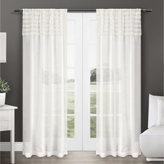 ATI Home Harta Sheer Rod Pocket Curtain Panel Pair