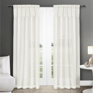 ATI Home Eko Semi Sheer Rod Pocket Window Curtain Panel Pair