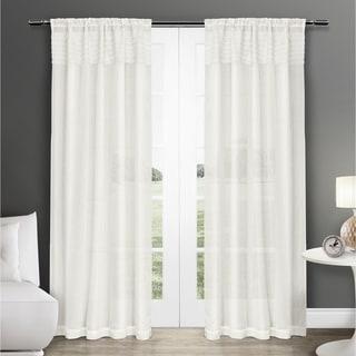 ATI Home Eko Semi Sheer Rod Pocket Window Curtain Panel Pair