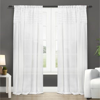 ATI Home Barcelona Rod Pocket Window Curtain Panel Pair