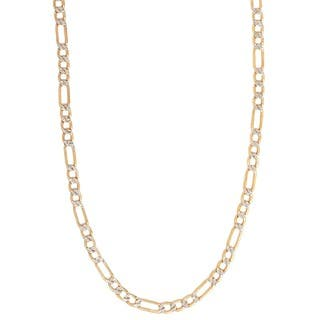 Pori 14k Gold Figaro Pave Chain Necklace https://ak1.ostkcdn.com/images/products/10883309/P17919123.jpg?impolicy=medium