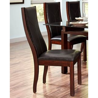 Monaco Style Wood Framed Upholstered Dining Chairs (Set of 2)