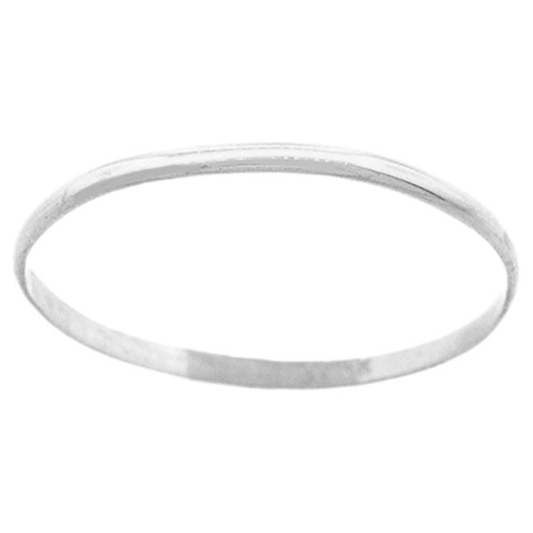 Pori 14k Solid White Gold 2mm Unisex Band Ring