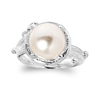 Handmade Nature's Gem Branch Wrap Freshwater Pearl .925 Sterling Silver Ring (Thailand)