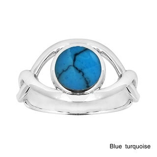 Circle of Promise Inlaid Stone .925 Sterling Silver Ring