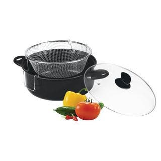 Gourmet Chef 4.5 Quart Non Stick Deep Fryer with Frying Basket and Glass Cover|https://ak1.ostkcdn.com/images/products/10883322/P17919180.jpg?impolicy=medium