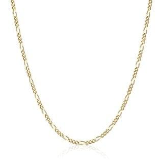 Pori 18k Gold Italian Figaro Chain Necklace