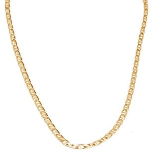 Pori Italian 18k Gold Marina Chain Necklace