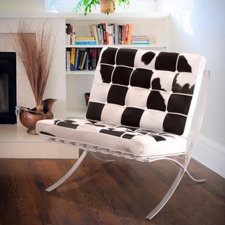 Christopher Knight Home Pavilion Leather Cowhide Accent Chair