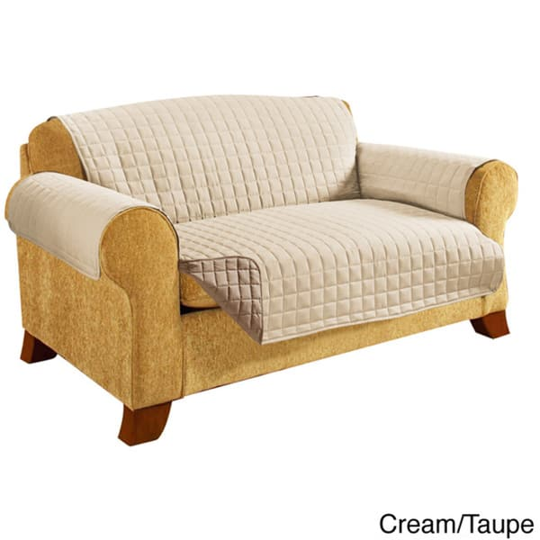 Phenomenal Shop Elegant Comfort Quilted Reversible Sofa Protector On Beatyapartments Chair Design Images Beatyapartmentscom