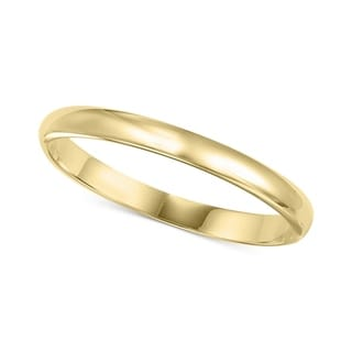 Pori 14k Gold 2mm Unisex Band Ring