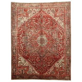 EORC Hand Knotted Wool Red Heriz Rug (10'1 x 13')
