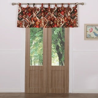 Greenland Home Fashions Folk Festival Rustic Window Valance
