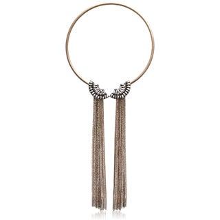 Adoriana Clear Crystal Fringe Collar
